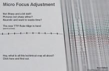 Micro Focus Adjustment Align Ruler